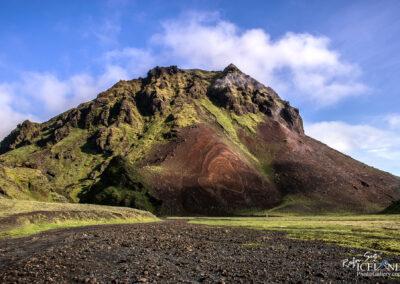 Remundargilshöfði mountain at Þakgil near Mýrdalsjökll.