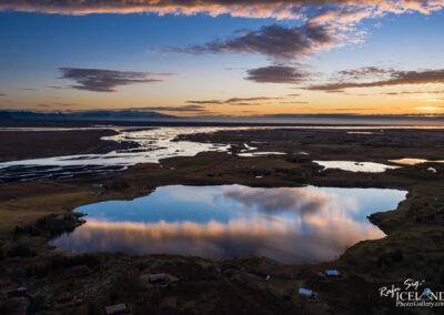 Hæðargarðsvatn Lake and Skaftá River - South │ Iceland Landscape from Air