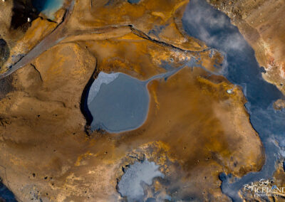 Seltún Geothermal area │ Iceland Landscape from Air