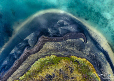 Stór-Sandvík Lake │ Iceland Landscape from Air