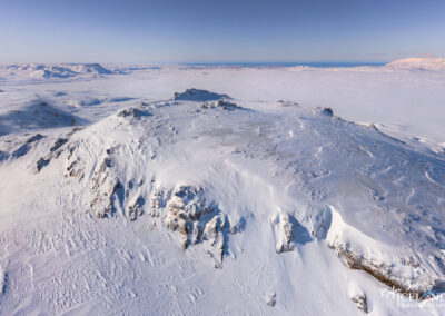 Top of Hengill Volcano│ Iceland Landscape from Air