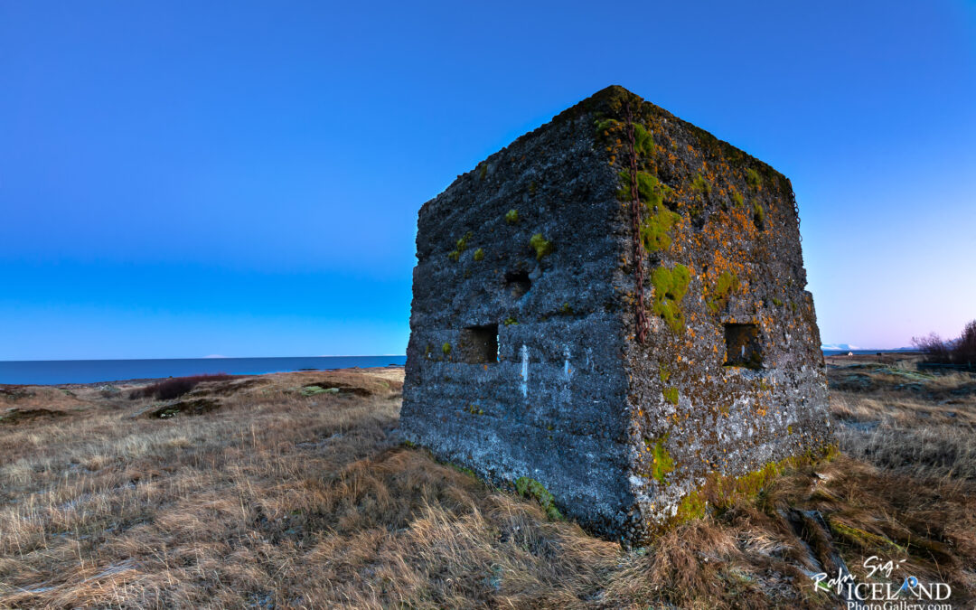 Abandoned windmill at Auðnar – South West – Iceland history
