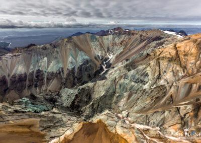 Blátindur Mountain in Vatnajökull National park. South Iceland
