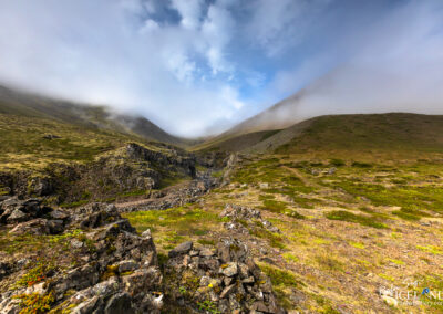 Dalsá in Mælifellsdalur wrapped in the fog – Eastfjords │