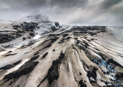 Eyjafjallajokull Glacier Outlet │ Iceland Landscape from Air