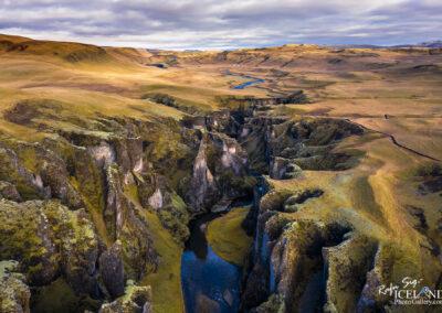 Fjaðrárgljúfur canyon - South │ Iceland Landscape from Air