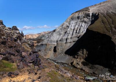 Grænagil canyon in Landmannalaugar Geothermal Highlands are