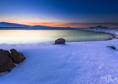 Grænavatn Volcano lake - South West │ Iceland Landscape Photo