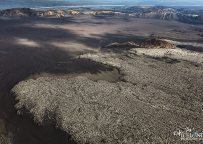 Hekla Volcano Lava edge │ Iceland Landscape from Air