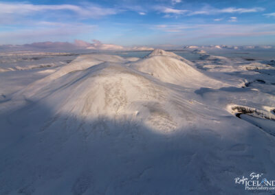 Hengill Volcono area in winter │ Iceland Landscape from Air