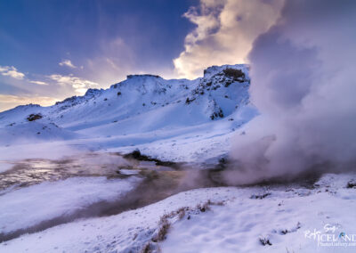 Hengill. Geothermal area in the winter│ Iceland Landscape From