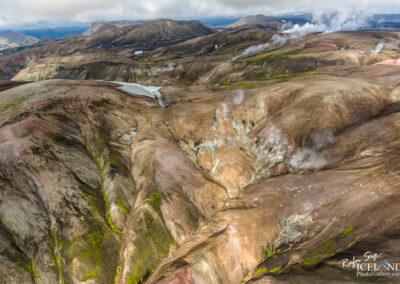 Hrafntinnusker Geothermal area │ Iceland Landscape from Air