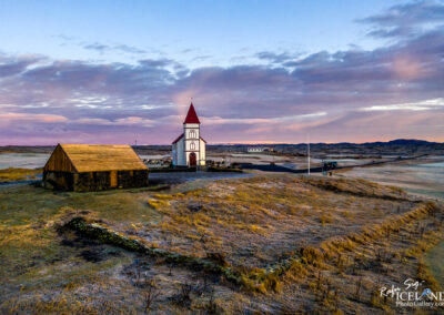 Kálfatjarnarkirkja at Vatnsleysuströnd - South West │ Icelan