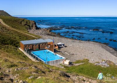 Krossneslaug Geothermal pool - Westfjords │ Iceland Landscape