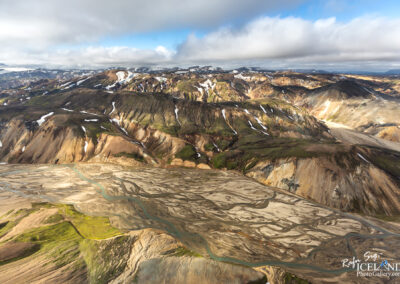 Landmannalaugar area in the Highlands │ Iceland Landscape from air