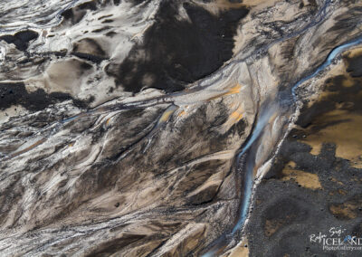 Langjökull Glacier river Patterns leading to Hagavatn lake. │