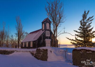 Mosfellskirkja church - South │ Iceland City Photography
