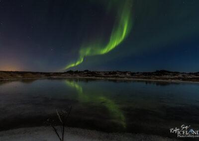 Northern lights at Stóra Sandvík │ Iceland