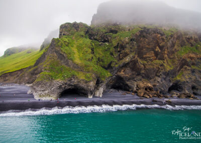 Reynisfjara black beach │ Iceland Landscape from Air