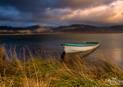 Rowboat filled with water - West │ Iceland Landscape Photograp