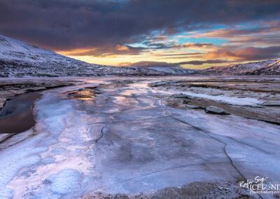 Þorskafjarðará river in Þorskafjörður - Westfjords │ Ice