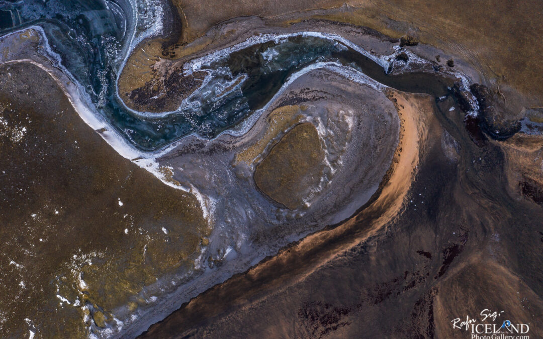 Vogsós river from air – Iceland Landscape Photography