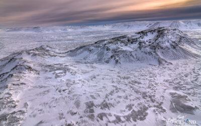 Helgafell Volcano in Hafnarfjörður │ Iceland Landscape from Air