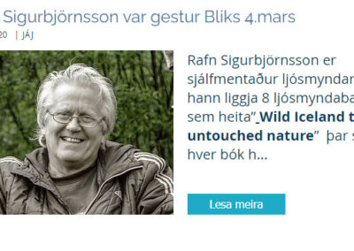Lecture for Blik Photo Club in Selfoss
