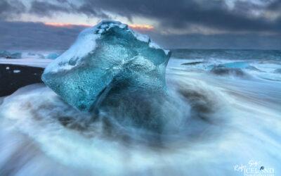 Jökulsárlón (Glacier Lagoon) in the twilight - South │ Ice
