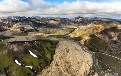 Landmannalaugar Highlands │ Iceland Landscape from Air