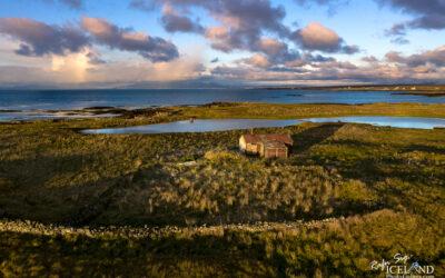 Móakot Abandoned Farmhouse │ Iceland Drone Photography