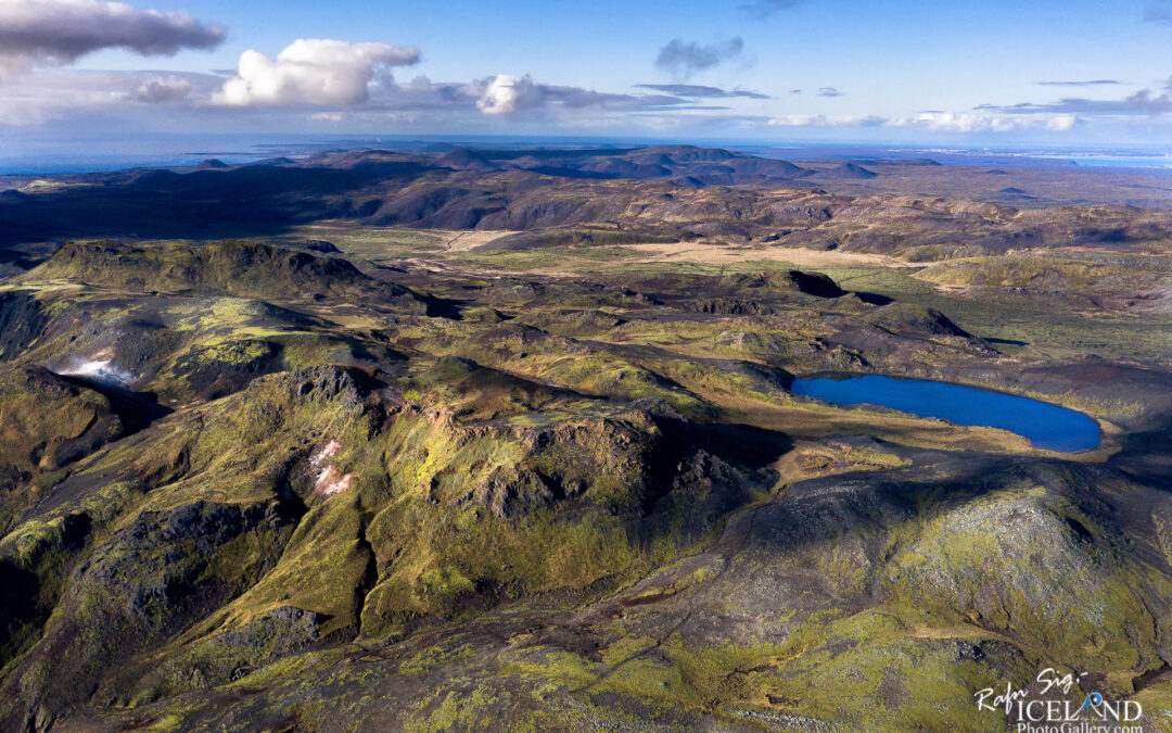 Arnarvatn Crater Lake – South West – Iceland Landscape from Air