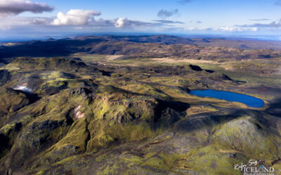 Arnarvatn Crater Lake – South West │ Iceland Landscape from Air