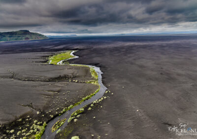 Black beach river in the South Coast │ Iceland Landscape from