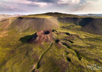 Geitahlíð og Stóra Eldborg Volcano│ Iceland Landscape from