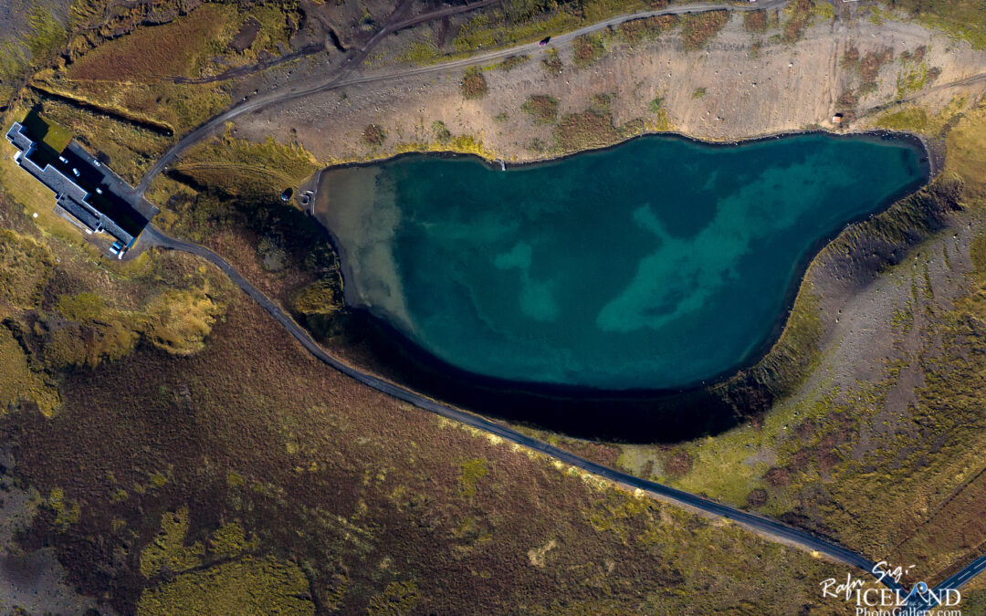 Gestsstaðavatn Crater Lake – South West – Iceland Landscape from Air