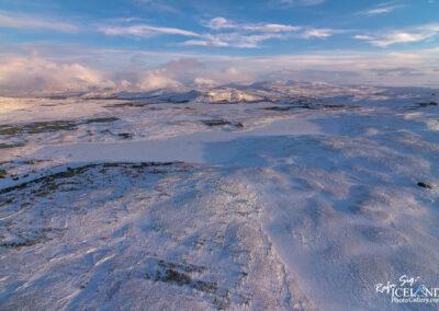 Hafravatn Lake │ Iceland Landscape from Air