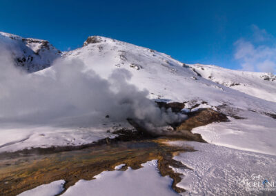 Hengill Geothermal Volcano area │ Iceland Landscape from Air