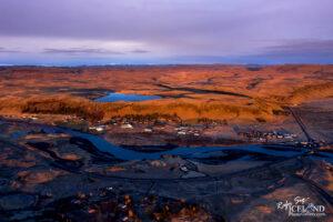 Kirkjubæjarklaustur village and Systravatn Lake – South – Iceland Landscape from Air