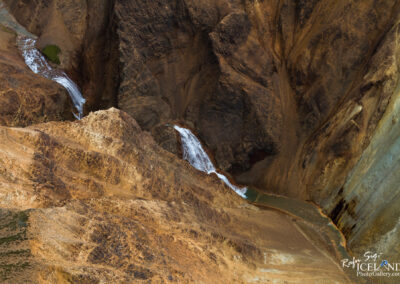 Ljósárfoss Waterfall in the Highlands │ Iceland Landscape f