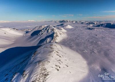 Nyrðri Eldborg Volcano in winter │ Iceland Landscape from Air