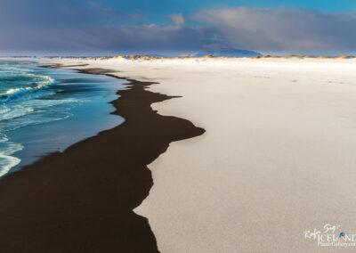 Óseyrartangi Black Beach│ Iceland Landscape from Air