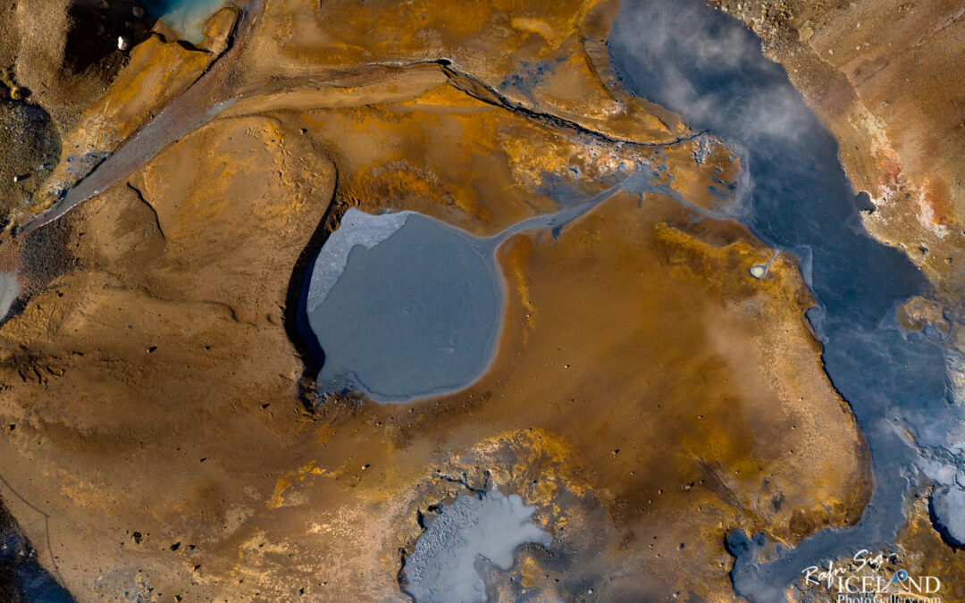 Seltún Geothermal area – Iceland Landscape from Air