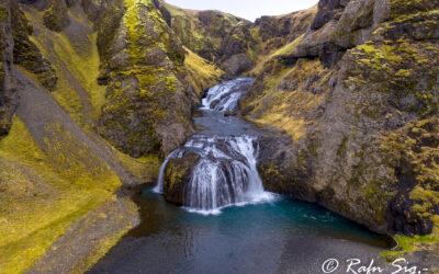 Stjórnarfoss waterfall - South │ Iceland Landscape Photograph