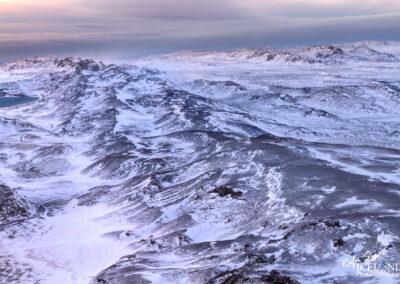 Sveifluháls mountain ridge │ Iceland Landscape From Air