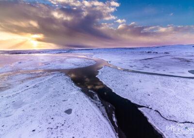 Þorleifslækur in South │ Iceland Landscape From Air