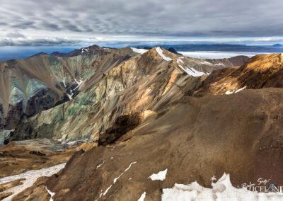 Blátindur mountain in Vatnajökull Glacir Iceland Landscape