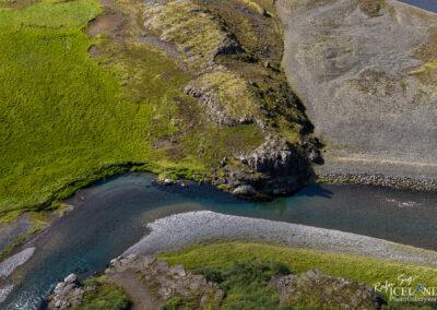 Botnsá river in Hvalfjord │ Iceland Landscape from Air