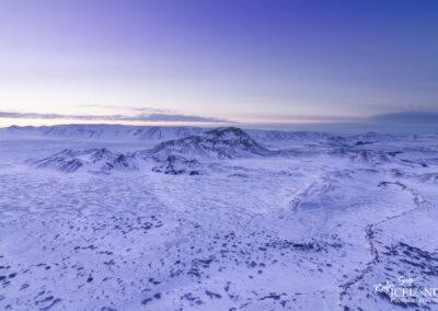 Búrfell central volcano area in winter │ Iceland Landscape fr