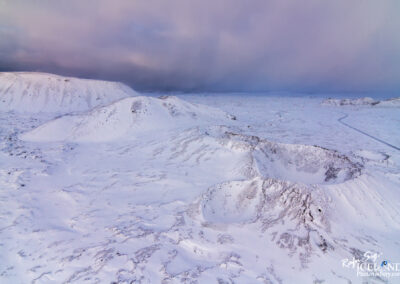 Craters in the Bláfjöll Highlands │ Iceland Landscape From Air
